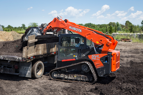 More Powerful Hydraulics with Kubota's New Track Loader