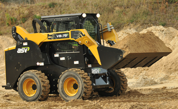 Skid steers with leading ground clearance and versatility