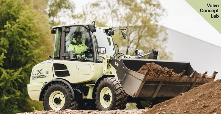 Volvo CE LX2 electric wheel loader concept