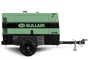 Sullair 375 compressor powered by Perkins