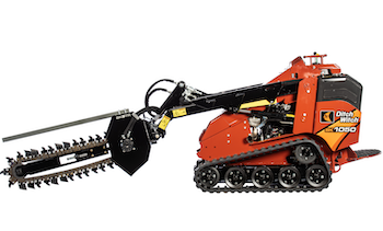 Ditch Witch SK5TR trencher for mini skid steers