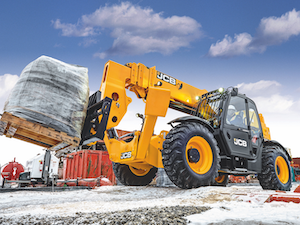 JCB telehandler with Arctic package