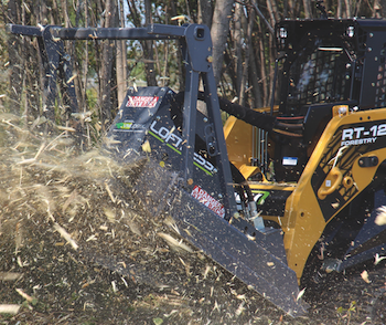 Loftness Bad Ax mulcher for skid steer loaders