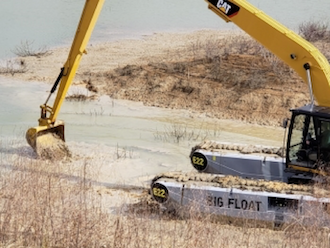 REMU pontoon Big Float undercarriage for excavators