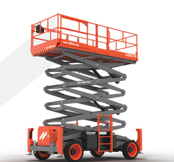 SkyJack full-size rough-terrain scissor lifts
