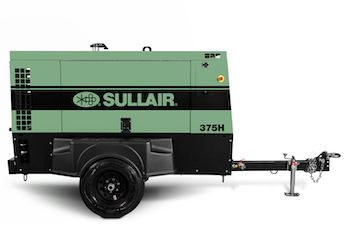 Sullair 375 Series compressor with Perkins engine