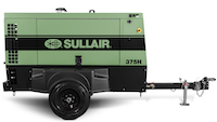 Sullair compressor with Perkins engine