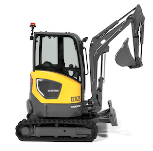 Volvo electric excavator
