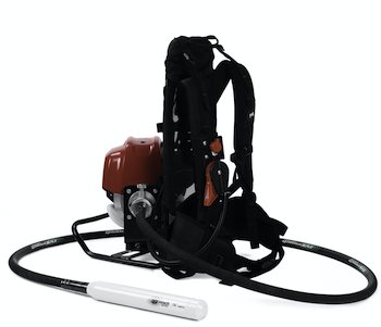 Minnich backpack concrete vibrator