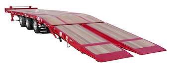 Felling air bi-fold trailer ramp