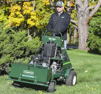 Turfco add-on drop seeder