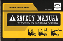 Truck-mounted lift truck manual