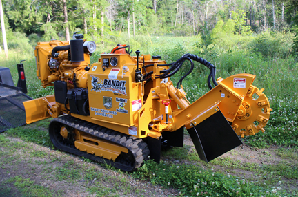 Bandit 2550 Track stump grinder