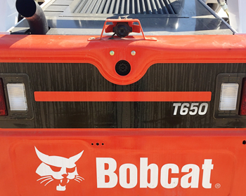 Bobcat rear-view camera