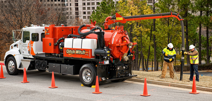 Ditch Witch vac ex truck