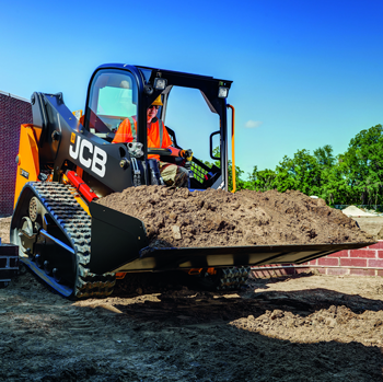 JCB compact track loader in action