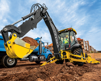John Deere L-Series backhoe