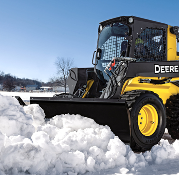 Deere V-blade for compact equipment