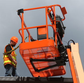 JLG fall arrest system installed
