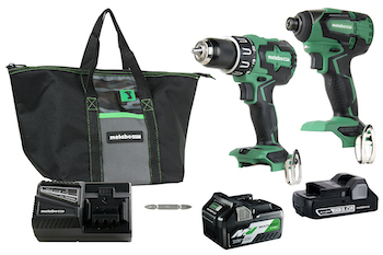 Metabo HPT KC18DBFL2T combo kit