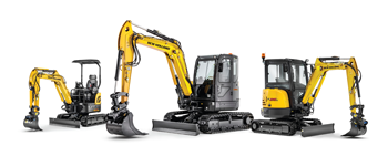 New Holland C Series line of mini excavators
