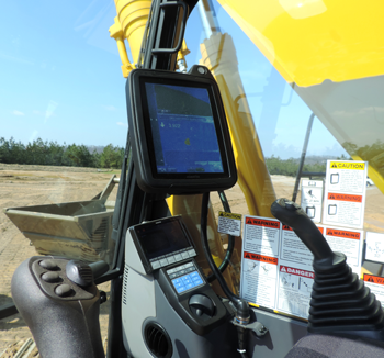 PC390LCi-11 excavator inside cab