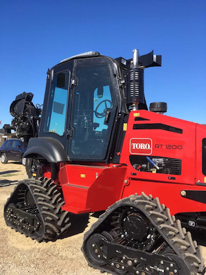 Toro riding trencher cab option