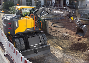 Volvo wheeled excavators