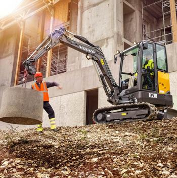 Volvo EC27D mini excavator - Pro Contractor Rentals