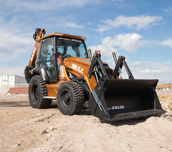 Case 580 EV backhoe loader