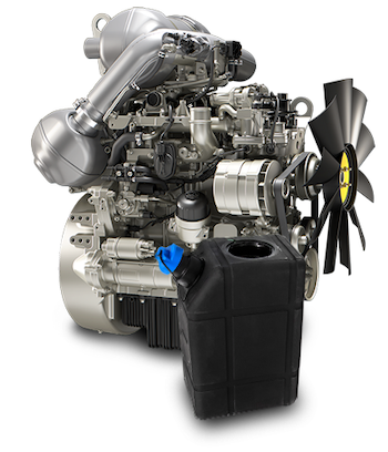 Perkins Tier 4-compliant diesel engine with DEF tank