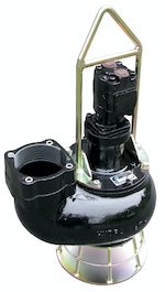 Hydra-Tech S6V 6-inch trash/solids dewatering pump with recessed vortex impeller for sewage bypass