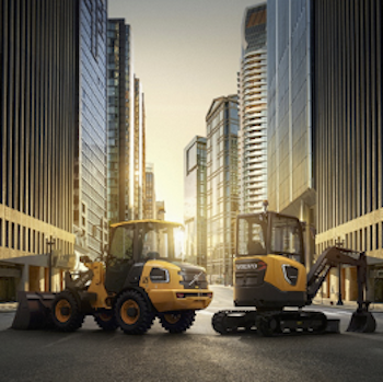 Volvo ECR25 excavator and LC25 wheel loader