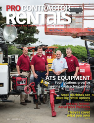Pro Contractor Rentals July/August 2014 cover