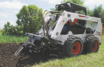 Bobcat trench attachment