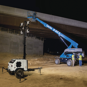 Terex RL4 LED gas-powered light tower
