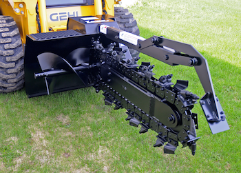 Lowe Mfg. XR series trenching attachment