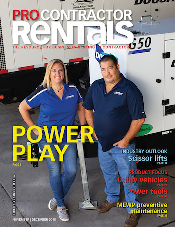 Pro Contractor Rentals magazine November-December 2108 issue