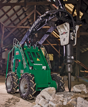 Sherpa 100 Eco electric skid-steer loader
