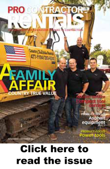 Pro Contractor Rentals nov-Dec 2017 issue cover