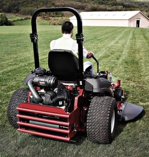 Commercial mower using EFI engine