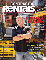 Pro Contractor Rentals September/October 2014 cover