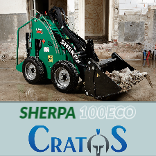 Cratos electric skid steer loader