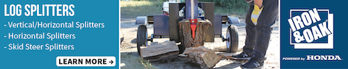 Iron and Oak log processing equipment