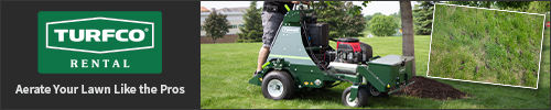Turfco lawn aeration equipment