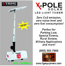 TGE Equipment X Pol solar light tower