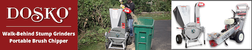 Dosko stump grinders and brush chippers