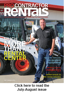 Pro Contracotr Rentals july-August 2018 issue